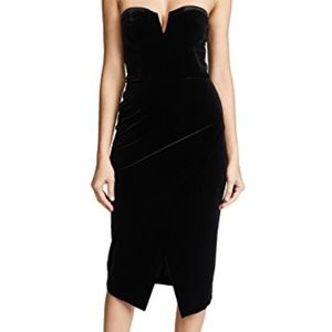 Yumi Kim Allure Velvet Strapless Dress